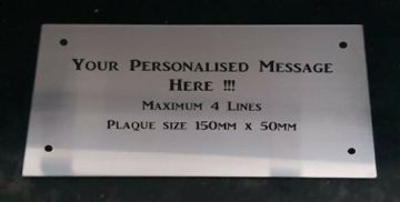Personalised Engraved Bench Plaque 150 x 50mm